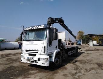 Транспортни услуги, извършени с камион с кран