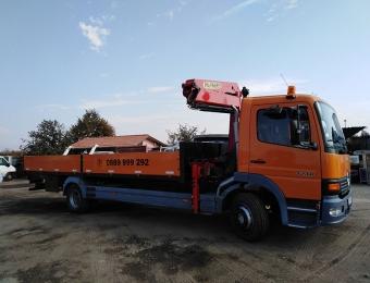 Камион с кран с товароносимост до 7 тона за транспортни услуги