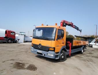 Камион с кран с товароносимост до 7 тона на фирма Рем Транс ООД