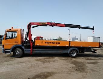 Камион с кран с товароносимост до 7 тона товар