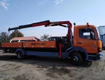 Камион с кран-транспортни услуги от Рем Транс ООД