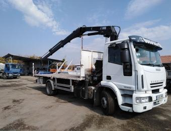 Качествени транспортни услуги с камион с кран с товароносимост до 10 тона