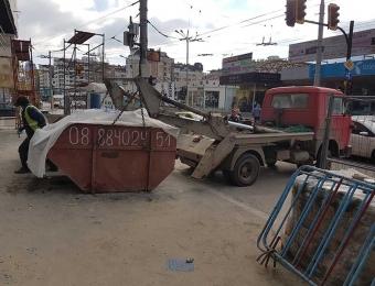 Извозване на строителни отпадъци с контейнери 2